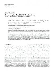 Research Article Hyperphosphorylated FAK ... - ScienceOpen
