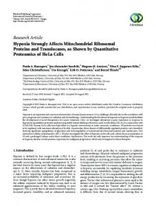 Research Article Hypoxia Strongly Affects ...