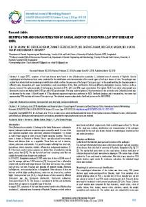 Research Article IDENTIFICATION AND ... - BioInfo Publication