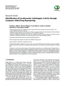 Research Article Identification of Levothyroxine Antichagasic Activity ...