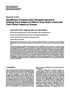 Research Article Identification of Opportunistic ... - BioMedSearch.com