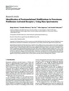 Research Article Identification of Posttranslational ... - BioMedSearch