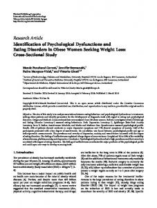 Research Article Identification of Psychological Dysfunctions ... - Serval