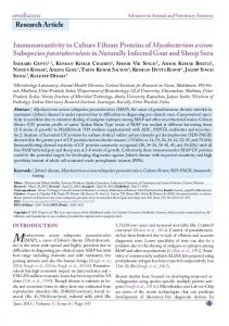 Research Article Immunoreactivity to Culture Filtrate Proteins of ...