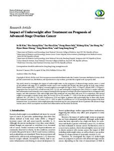 Research Article Impact of Underweight after ...