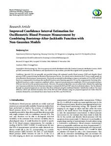 Research Article Improved Confidence Interval Estimation for ...