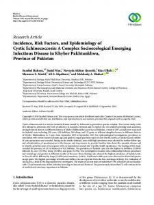 Research Article Incidence, Risk Factors, and