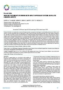 Research Article INORGANIC CONTAMINANTS ... - BioInfo Publication