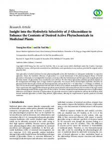 Research Article Insight into the Hydrolytic Selectivity of - Downloads