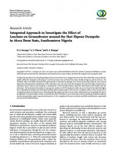 Research Article Integrated Approach to Investigate ...