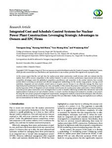 Research Article Integrated Cost and Schedule