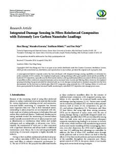 Research Article Integrated Damage Sensing in Fibre