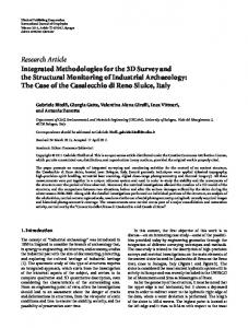 Research Article Integrated Methodologies for the 3D ...