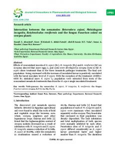 Research article Interaction between the nematodes Heterodera ...