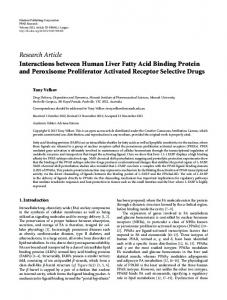 Research Article Interactions between Human Liver Fatty Acid Binding ...