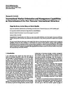 Research Article International Market Orientation and ... - Core
