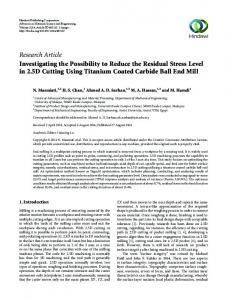 Research Article Investigating the Possibility to Reduce the ... - umexpert