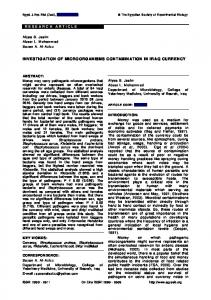 research article investigation of microorganisms ...
