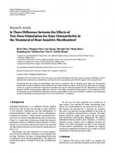 Research Article Is There Difference between the ... - ScienceOpen