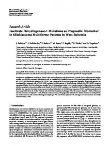 Research Article Isocitrate Dehydrogenase-1 ... - ScienceOpen
