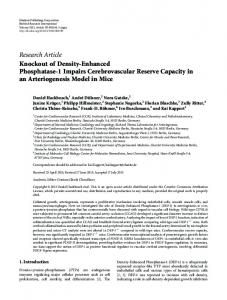 Research Article Knockout of Density-Enhanced ... - BioMedSearch