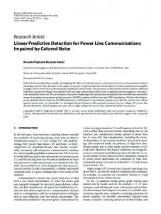 Research Article Linear Predictive Detection for