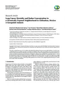 Research Article Lung Cancer Mortality and Radon