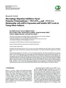 Research Article Macrophage Migration Inhibitory Factor Promoter