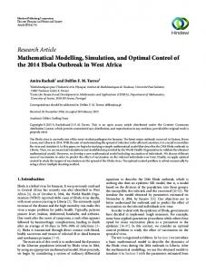 Research Article Mathematical Modelling, Simulation ...