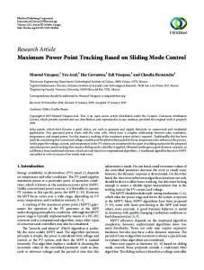 Research Article Maximum Power Point Tracking