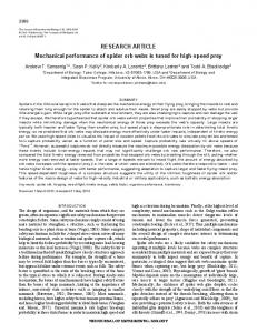 RESEARCH ARTICLE Mechanical performance ... - gozips.uakron.edu