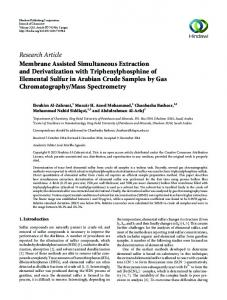 Research Article Membrane Assisted Simultaneous