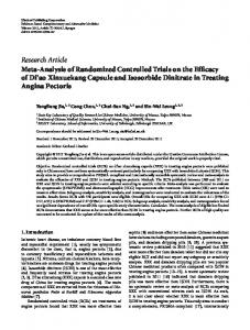 Research Article Meta-Analysis of Randomized ... - ScienceOpen