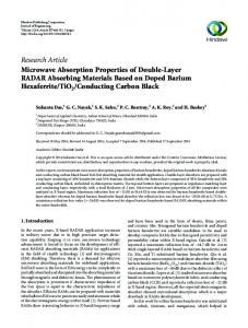 Research Article Microwave Absorption Properties of ...