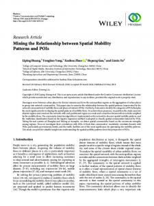 Research Article Mining the Relationship between Spatial ... - Hindawi