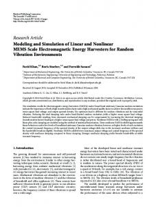 Research Article Modeling and Simulation of Linear ... - BioMedSearch