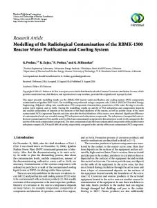 Research Article Modelling of the Radiological ...