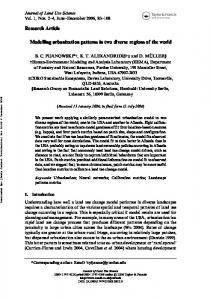 Research Article Modelling urbanization patterns in two diverse ...