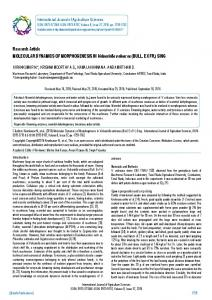 Research Article MOLECULAR DYNAMICS OF ... - BioInfo Publication