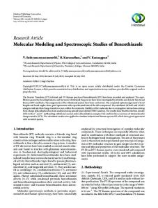 Research Article Molecular Modeling and