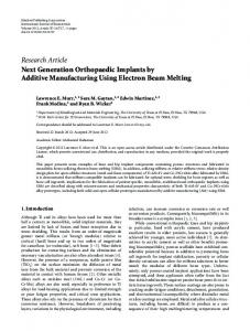 Research Article Next Generation Orthopaedic ... - ScienceOpen