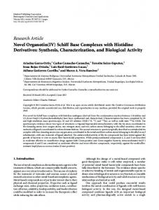 Research Article Novel Organotin(IV) - ScienceOpen