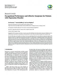 Research Article Occupational Performance and ...