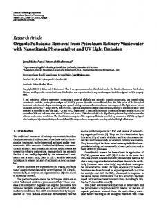 Research Article Organic Pollutants Removal from ...