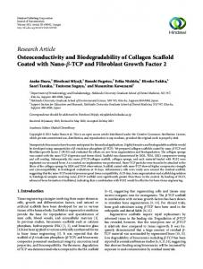 Research Article Osteoconductivity and Biodegradability of ... - Hindawi