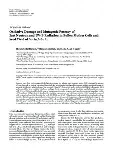 Research Article Oxidative Damage and Mutagenic ... - BioMedSearch