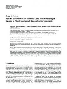 Research Article Parallel Evolution and Horizontal ... - ScienceOpen