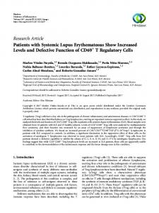 Research Article Patients with Systemic Lupus ... - Hindawi