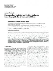 Research Article Pharmacophore Modeling and