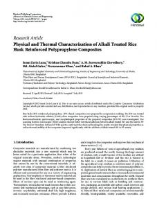 Research Article Physical and Thermal